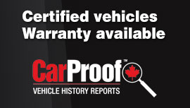 Pre-owned vehicle with CarProof report